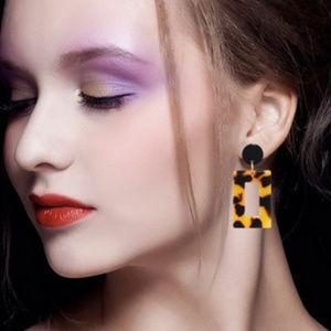 Korea Fashion square  Earrings leopard jewelry